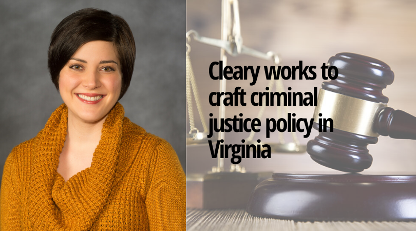 Hayley Cleary, Ph.D., an associate professor of Criminal Justice and Public Policy at the Wilder School.